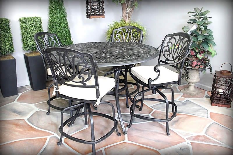 Biscayne Patio High Dining Set Http://www.treesntrends.com/products