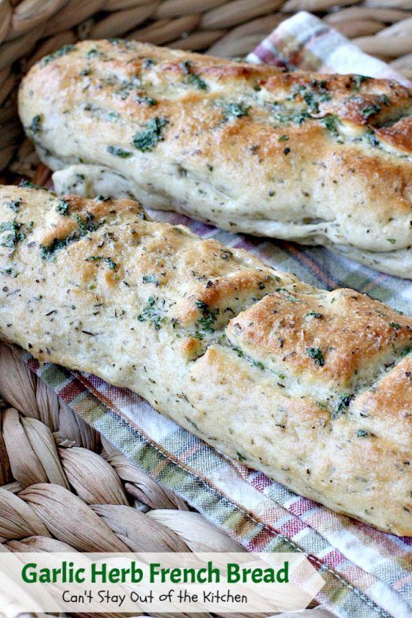Garlic Herb French Bread | Recipe | Tasty bread recipe ...