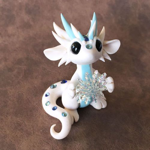 Snowflake Dragon Sculpture | Dragons, Clay and Polymers