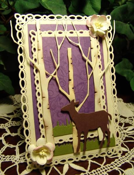 RAK ~Bestie in the Woods~ by Blooms in a Box - Cards and Paper Crafts at Splitcoaststampers  tall birch