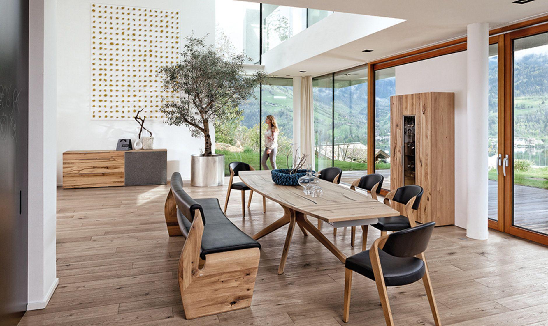 valpin – esszimmer vollholzmöbel in eiche altholz