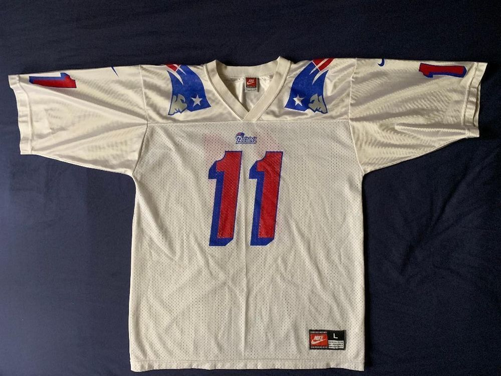 6a8b752ef Men s vintage Nike NFL New England Patriots jersey Drew Bledsoe  11 size L    16.99 End Date  Thursday Nov-15-2018 16 29 44 PST Buy It Now…