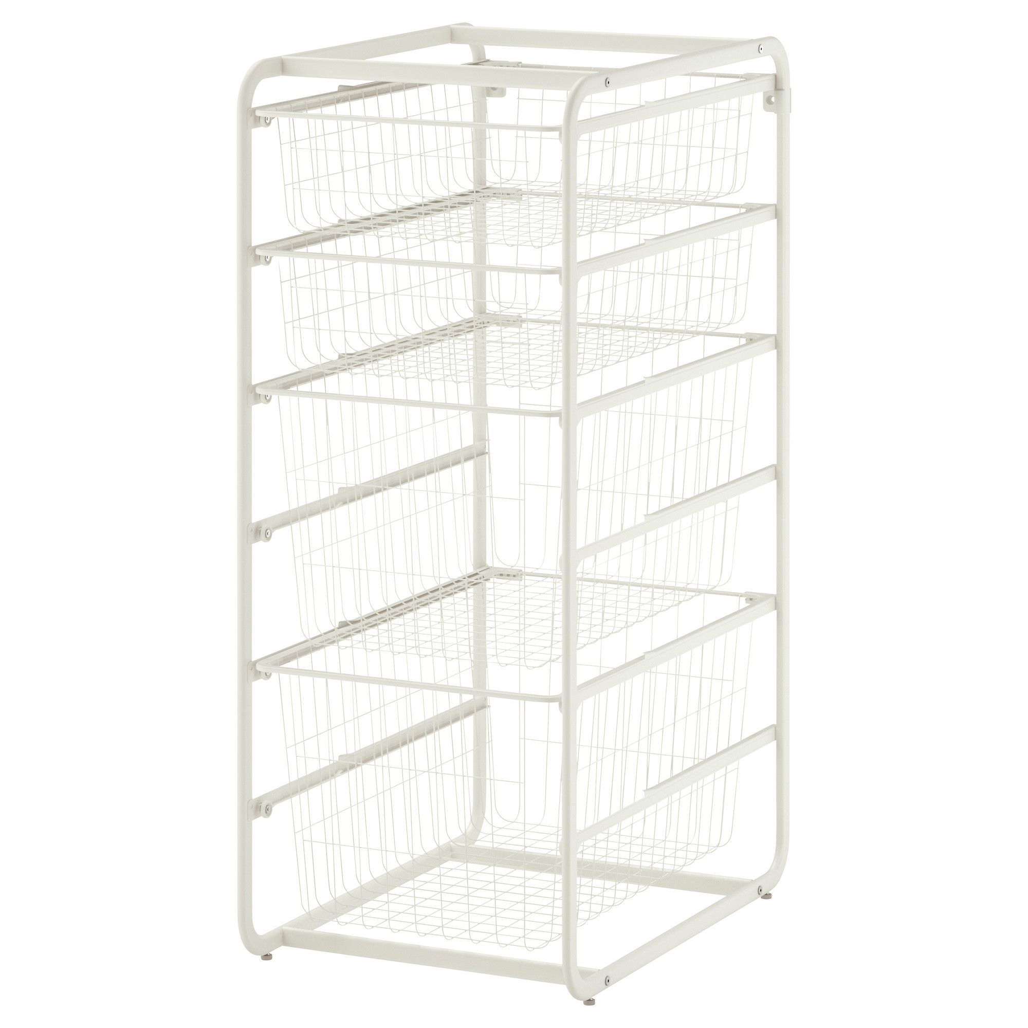 39 49 Algot Frame With 4 Wire Baskets