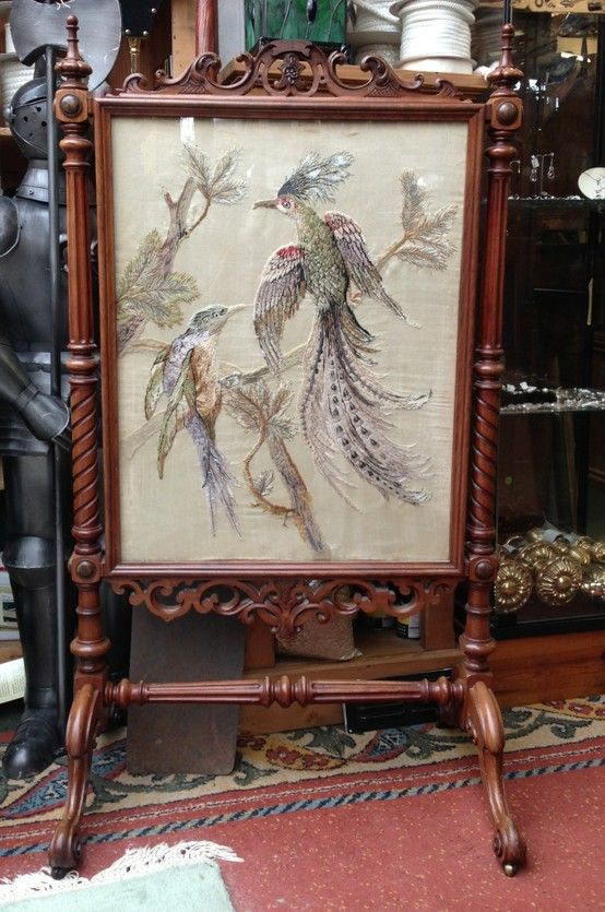 Tapestry Fire Screen.£225