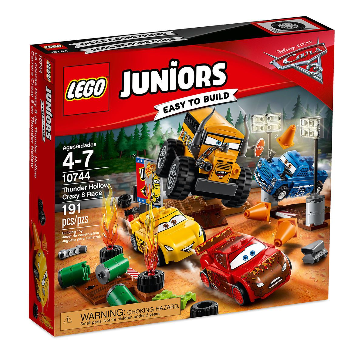 Thunder Hollow Crazy 8 Race Playset By Lego Juniors Cars 3 Lego Juniors Lego Junior Sets Disney Cars 3