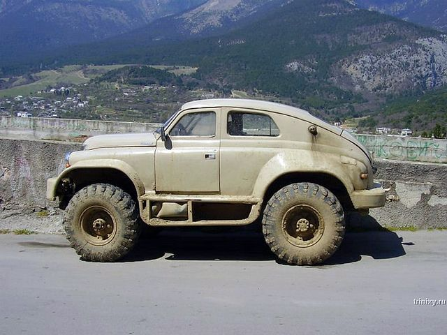 Cars. GAZ M 72  the  First SUV    Soviet union  Cross country and Crazy cars