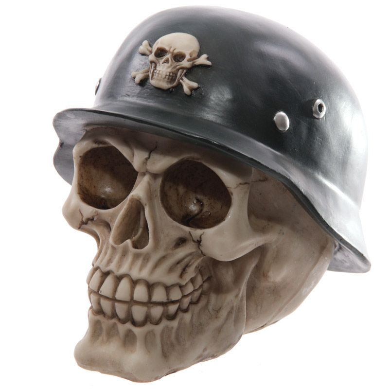 Novelty Helmet Wearing Skull Ornament Looking for something a bit different to give as a gift Then check out our range of novelty skull decorations