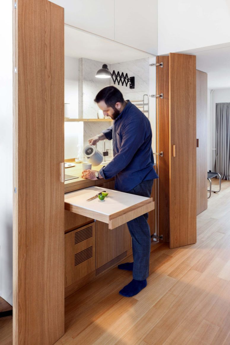 Tiny Apartment With Space-Saving And Functional Solutions ...