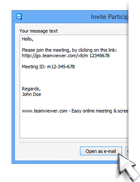 Send An Email Invitation To Your Online Meeting With Ease  My