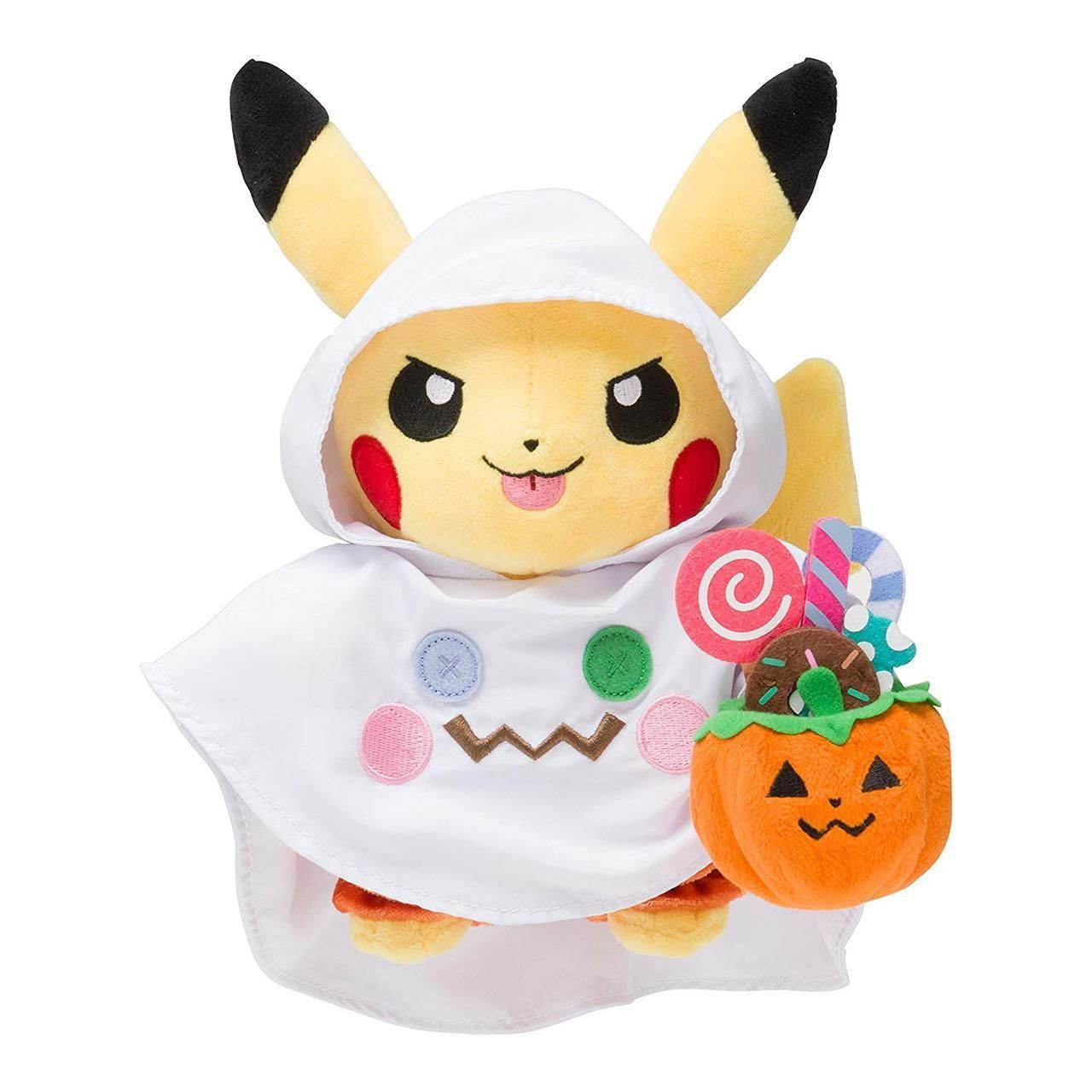 Halloween Pikachu Plushies released by the Pokemon Center -