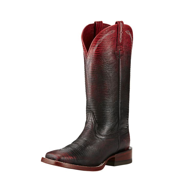 Dramatic ombré shading adds a gorgeous effect to these expertly crafted boots.  This unique pair is not only beautiful but designed to perform a...