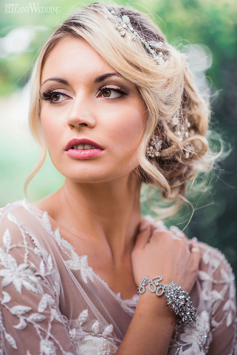We wedding headpiece jewellery - Blonde Bridal Hair And Makeup Wedding Headpiece Wedding Jewellery Jewelry Bridal Headpiece