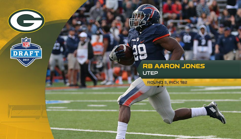 The Packers Take Utep Rb Aaron Jones At No 182 Packers Nfl Packers Green Bay Packers
