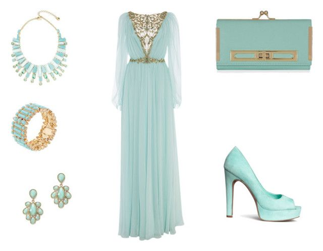 """""""Mint and stunning evening wear"""" by normah on Polyvore"""
