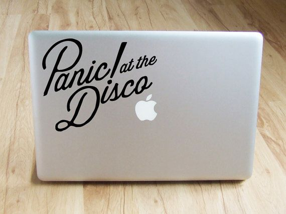 Panic at the disco decal vinyl stickers macbook by cutoutarts