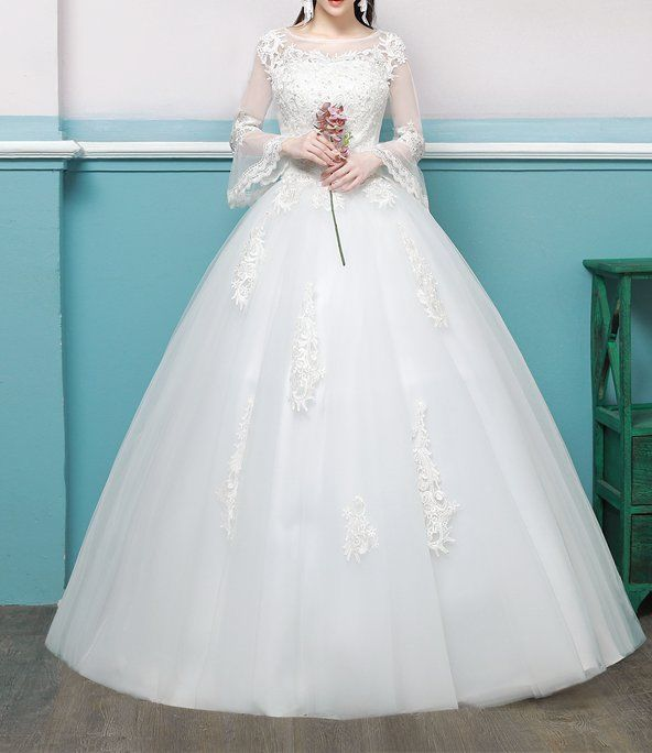 New Bridal Wedding Dress lace bead gown princess fashion chic tulle ...