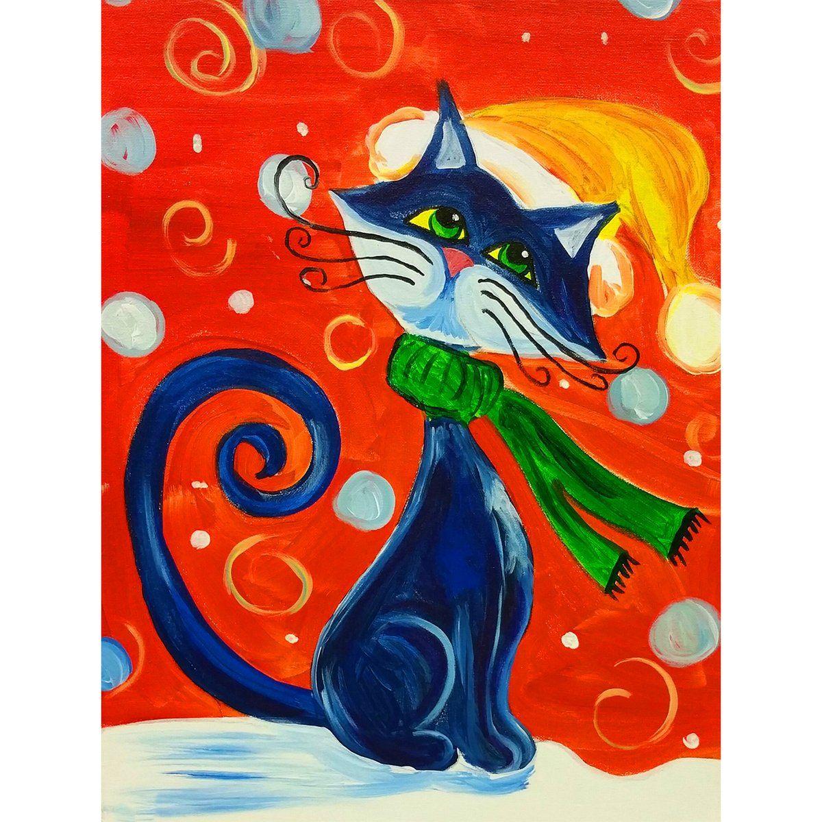 5d Diamond Painting Black Cat Paint With Diamonds Art Crystal Craft Decor Black Cat Painting Cat Painting Diamond Painting