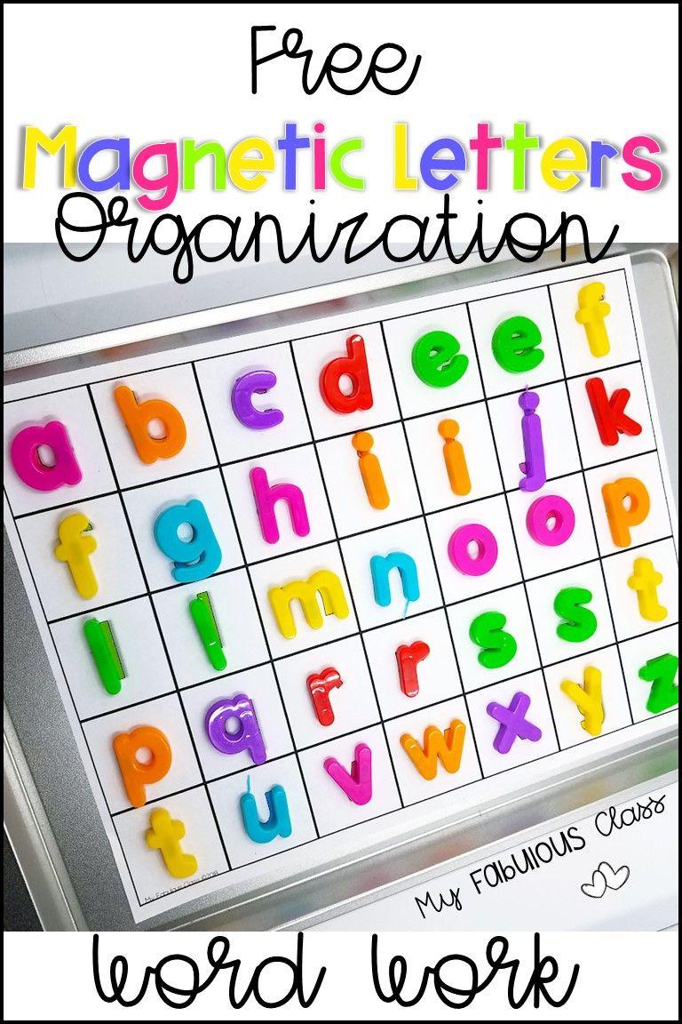 Free Magnetic Letters Word Work Kindergarten School Activities Magnetic Letters