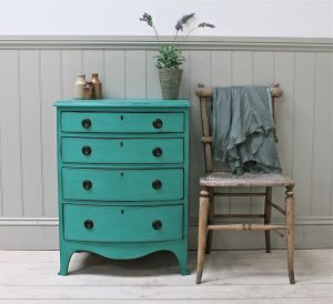 Best Small Antique Four Drawer Chest For Sale Distressed 400 x 300