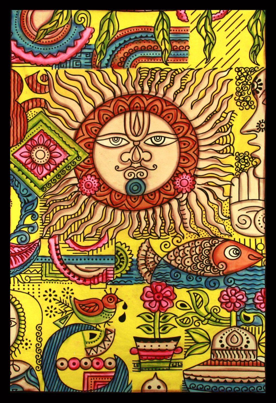 Amazon.com: Sunshine Joy® Mata Ji Earth Mother Indian Tapestry ...