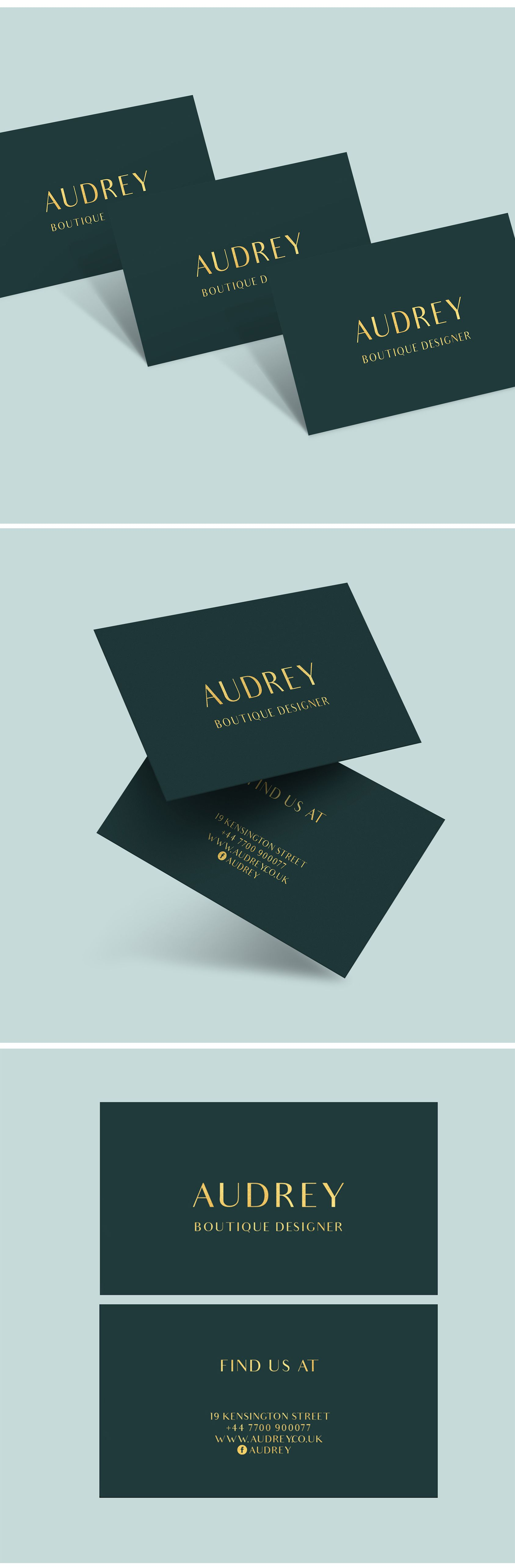Business Card Template Business Card Design Premade Business