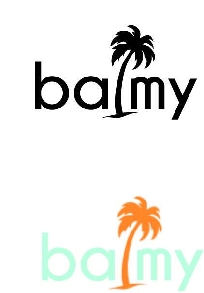 Balmy Logo 2 Summery Palm Tree Logo ロゴデザイン ヤシの木