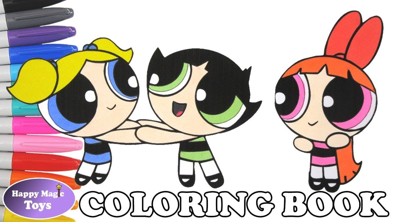 The Powerpuff Girls Coloring Episode 20 – Blossom, Bubbles and ...
