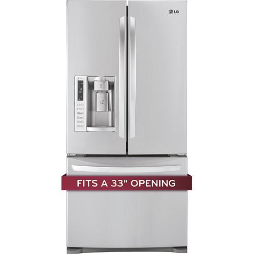 LG - 24.9 Cu. Ft. French Door Refrigerator with Thru-the-Door Ice and Water - Stainless-Steel - Alternate View 7