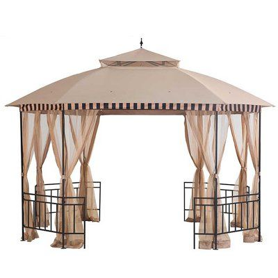 Sunjoy 10 X 12 Ft Replacement Canopy Cover For L Gz762pst B Pop Up Gazebo 110109260 Round Gazebo Gazebo Patio Gazebo
