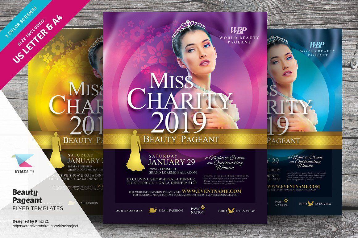 Beauty Pageant Flyer Templates #specs#file#PDF#features