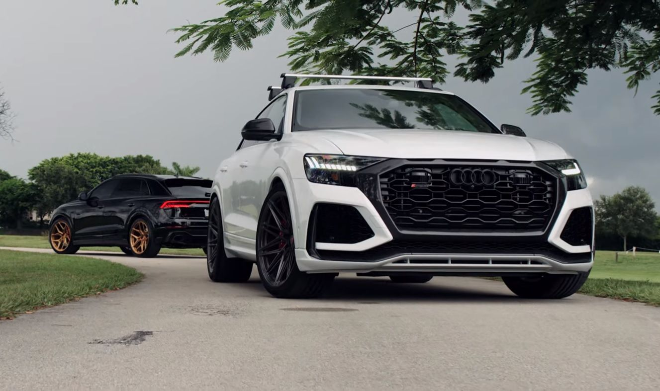 2020 Audi Rs Q8 Duo With 23 Inch Vossen Wheels Looks The Part In 2020 Audi Rs Audi Vossen Wheels