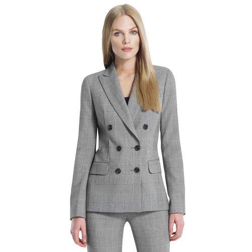 Jones New York: Jackets & Coats > Blazers > The Olivia Double Breasted Jacket in Glen Plaid