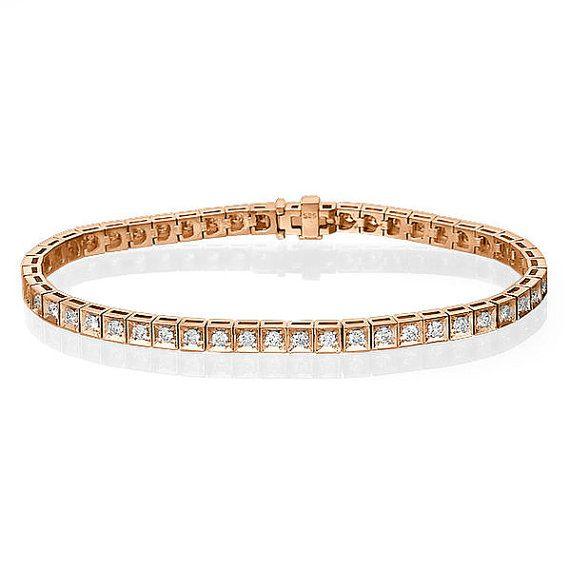 1 20ct Rose Gold Tennis Bracelet 14k Rose Gold Diamond Etsy Tennis Bracelet Diamond Diamond Bracelet White Gold Bracelet