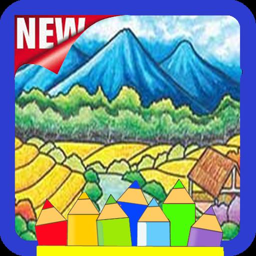 30 Sketsa Pemandangan Air Terjun Berwarna Coloring Scenery Aplikasi Di Google Play Download 50 Gambar Sketsa Lukisan Pemanda Di 2020 Sketsa Pemandangan Air Terjun