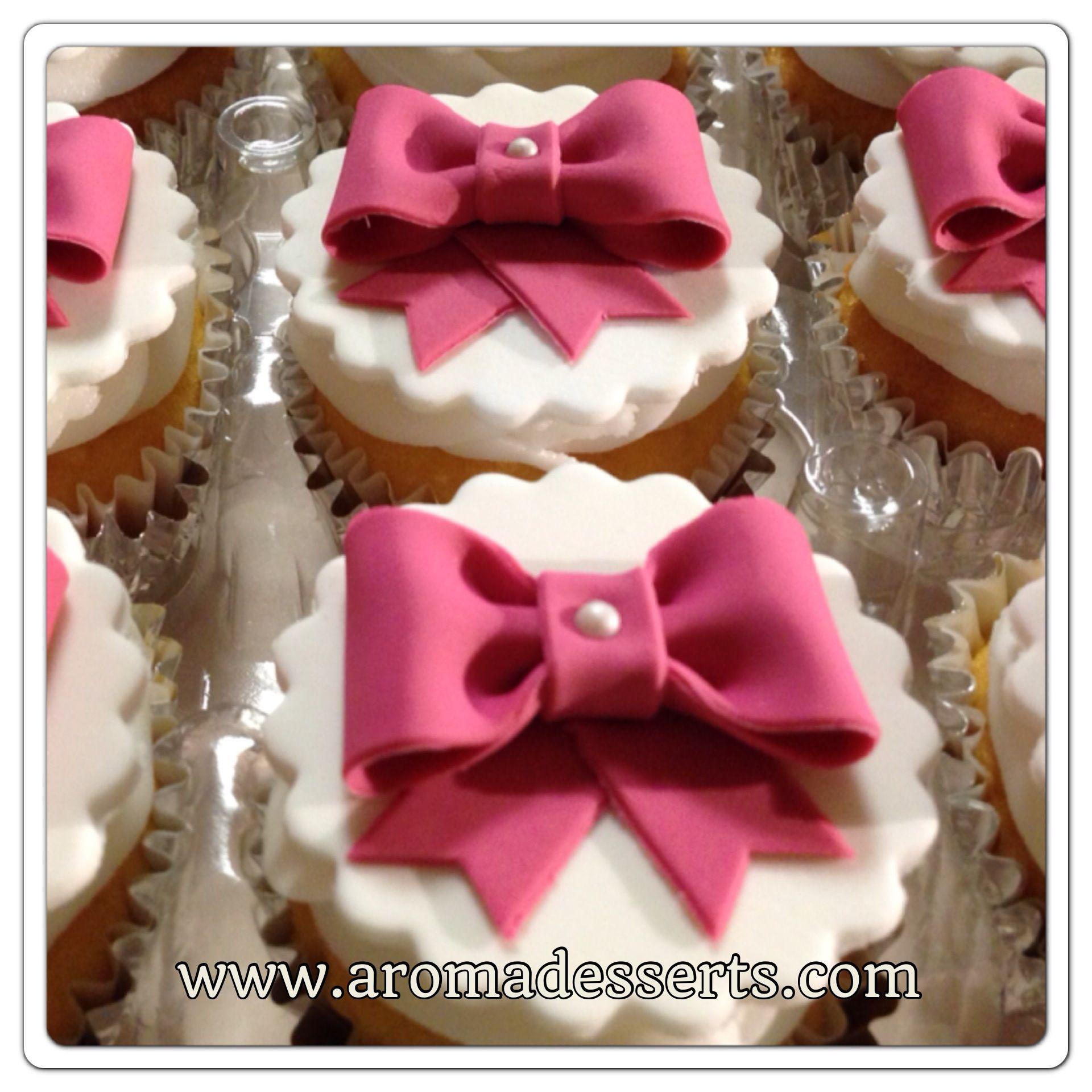 Wedding Cupcakes Tower - Vanilla cake and cupcakes with dark ...