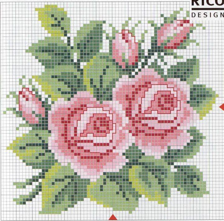 Flores Projetos De Ponto Cruz Rosa Ponto Cruz Cruz De Croche