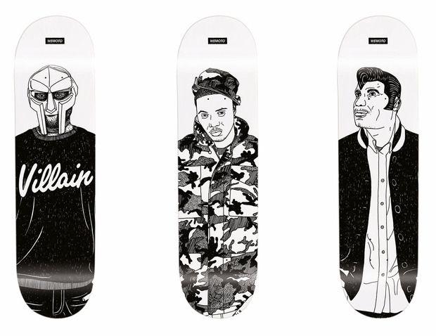 Rap Idols Skate Deck Series by Wemoto Clothing