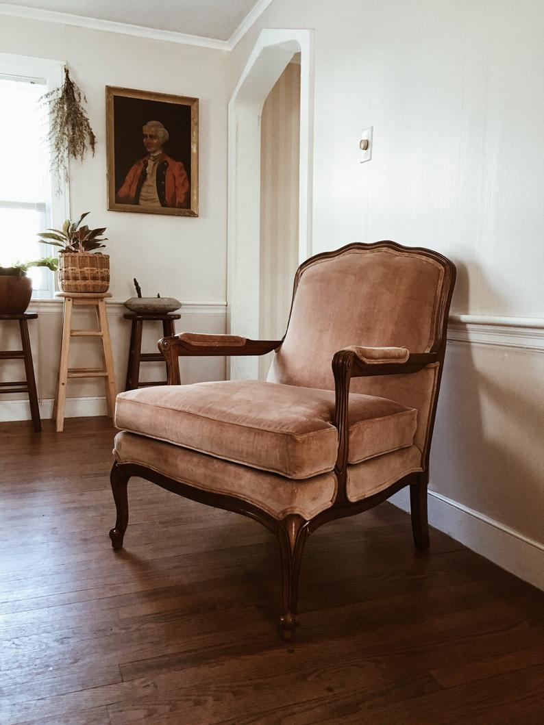Amazing Blush Pink Accent Chair Victorian Pink Upholstered Chair Best Image Libraries Counlowcountryjoecom