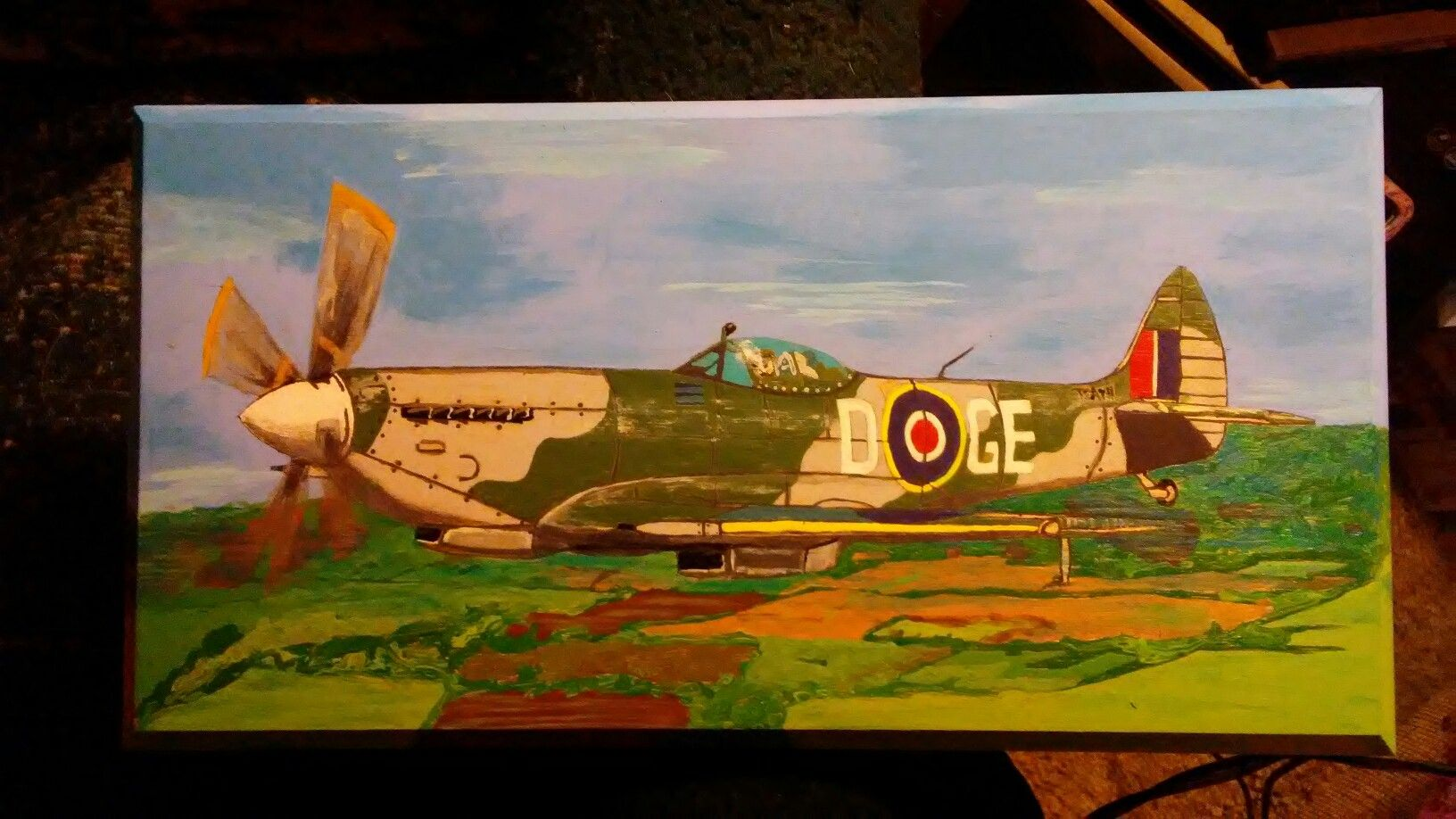 Spitfire painting by William kennedy