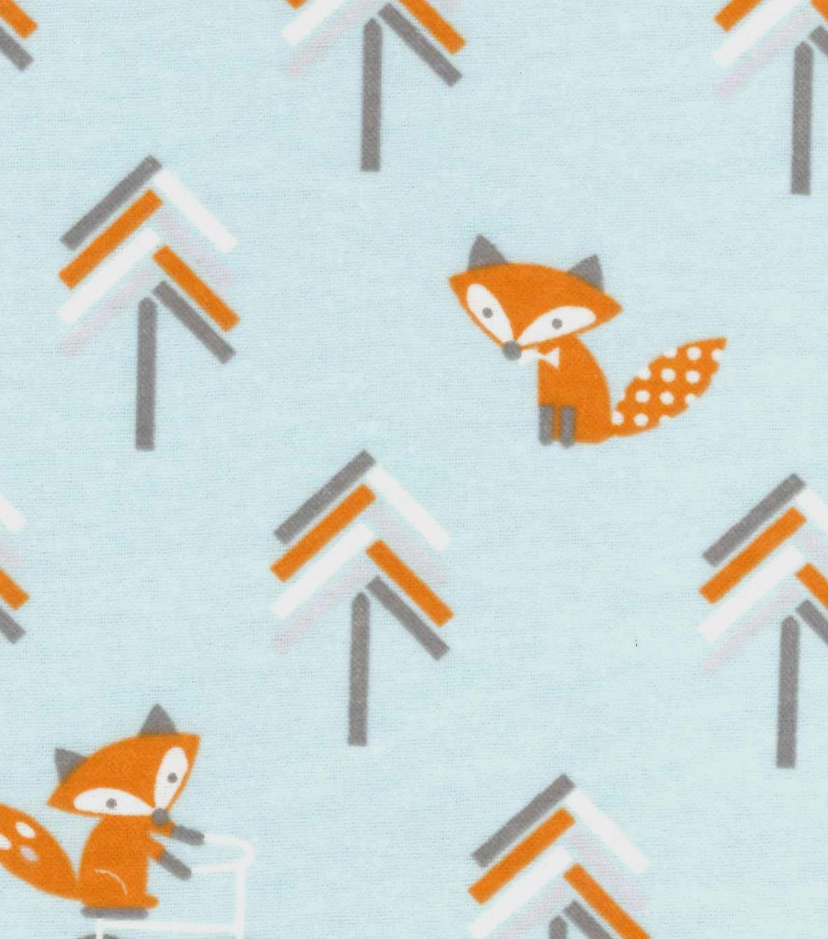 Magic Moon Little Fox Flannel Fabric Bicycle