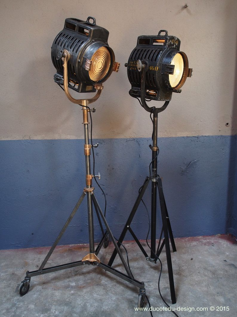 ancien rare projecteur cinema hollywood richardson 1930 40 pied cinema roulette lamps. Black Bedroom Furniture Sets. Home Design Ideas