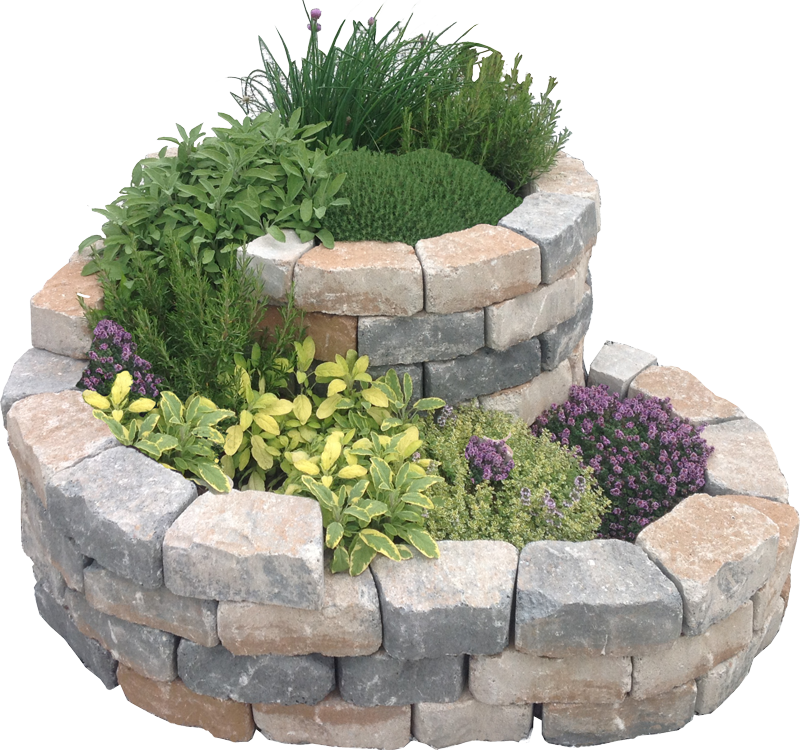Photo of Espiral de hierbas / caracol de hierbas, piedra fundida con piedra caliza de concha – aspecto de piedra natural
