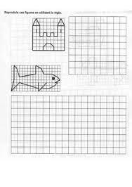 Resultado De Imagen Para Ejercicios De Traslacion De Figuras Para Preescolar Hojas De Cálculo Cuadricula Dibujos En Cuadricula