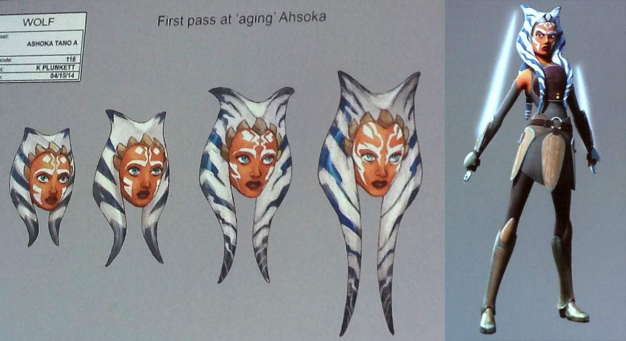 Ahsoka Tano age progression  Notice the movements of her