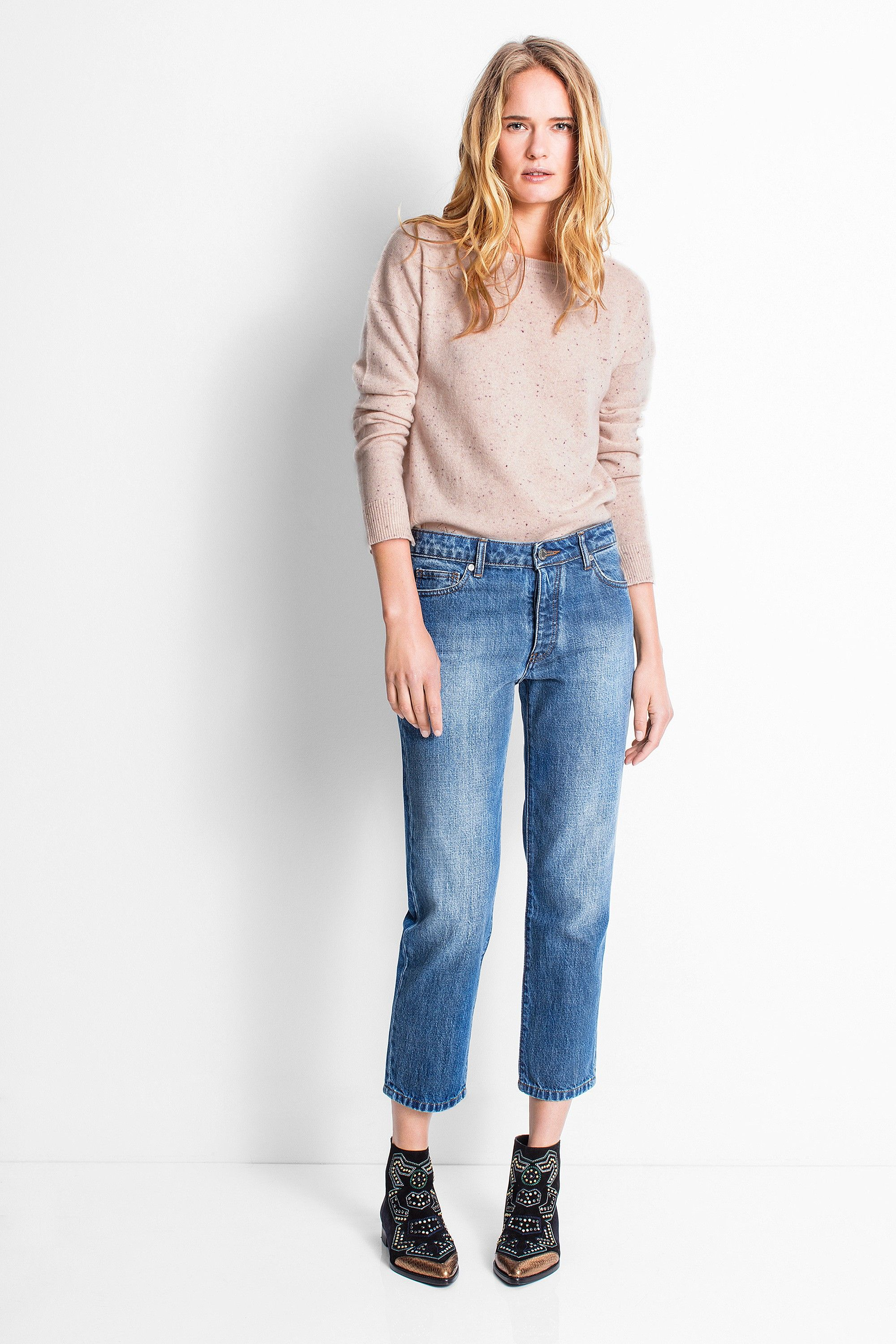 Zadig & Voltaire crew neck sweater, long sleeves, iridescent ...