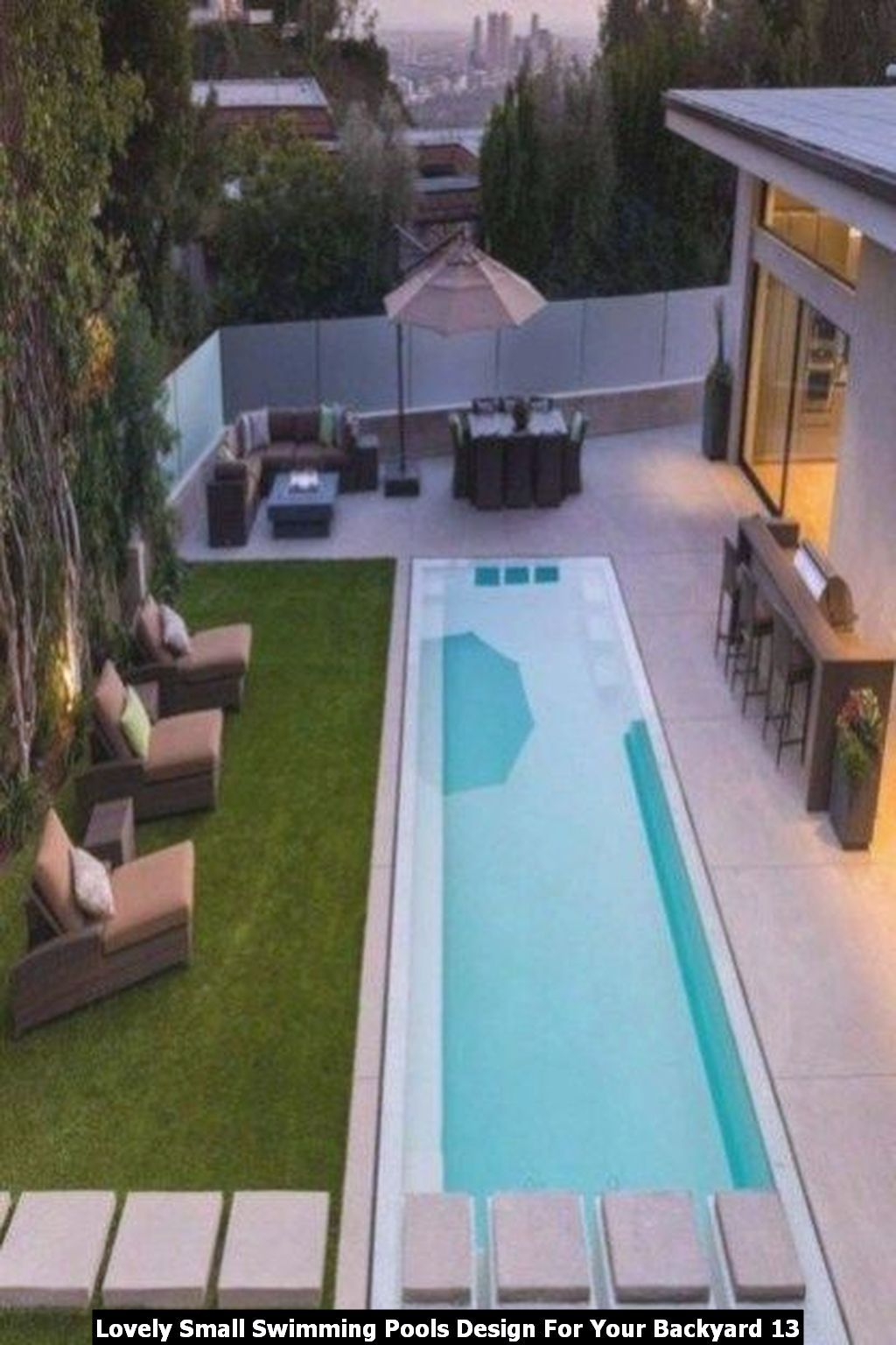 Lovely Small Swimming Pools Design For Your Backyard Homyhomee Small Backyard Pools Swimming Pools Backyard Lap Pool Designs