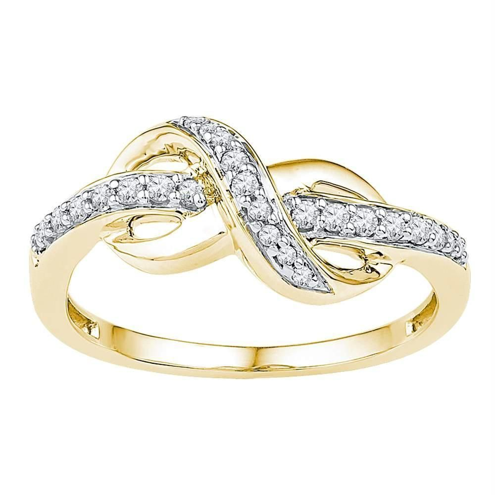 10kt Yellow Gold Women S Round Diamond Infinity Ring 1 5 Cttw Free Shipping Us Can Infinity Diamond Ring Yellow Gold Round Diamond Diamond Infinity