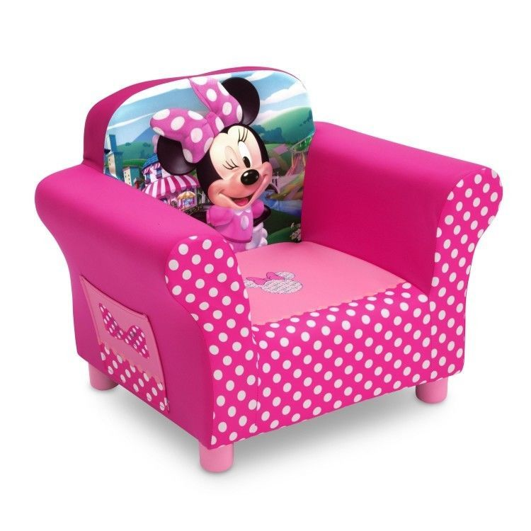Minnie Mouse Chair Disney Toddler Seating W Side Pocket Sturdy Easy Cleaning Disney Minnie Mouse Bedroom Toddler Chair Minnie Mouse Chair