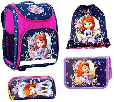 5b3ce7f606820 Sofia die erste Schulranzen Mädchen 1 Klasse Tornister Schulrucksack  Schultasche SET 4 teilig für Grundschule super