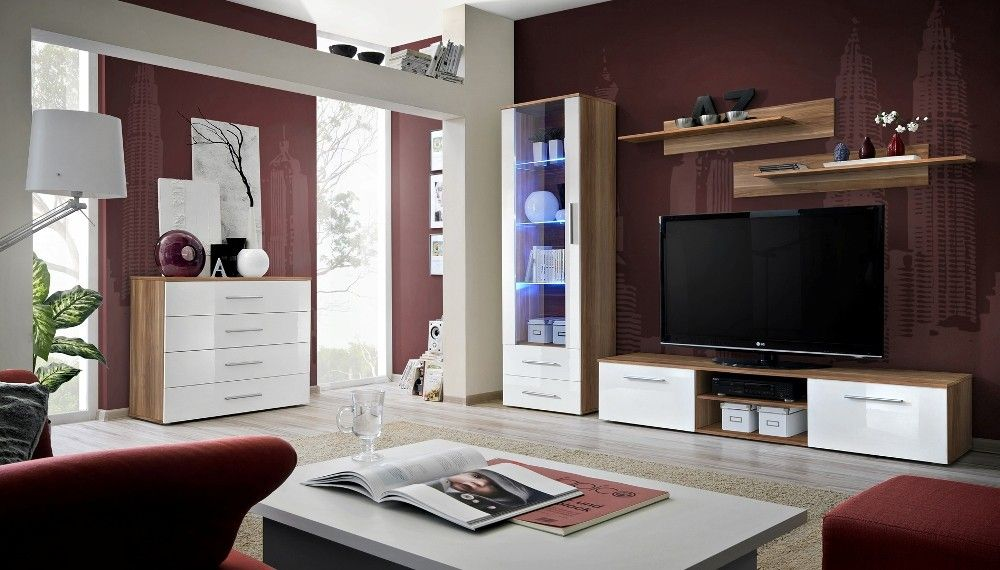 Santi 3 Modern wall units, Living room wall units and Modern wall